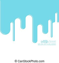 Abstract background with streaks, drops waves For...