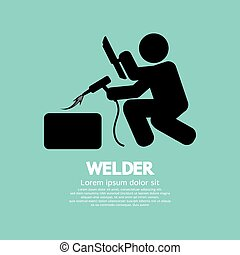 Welder Graphic Sign. - Welder Graphic Sign Vector...