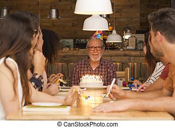 aniversário, avô,