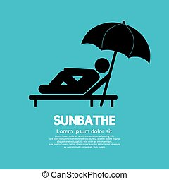Sunbathe Black Graphic - Sunbathe Black Graphic Vector...