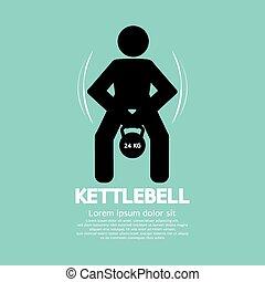 Kettlebell Fitness Exercising Sign.