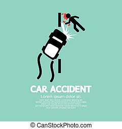 Car Accident - Car Accident Vector Illustration