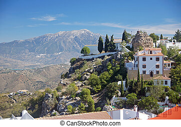 The pretty peublo blanco of Comares - Andalucia in Spain:...