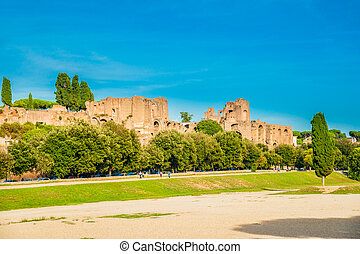 Circus Maximus, Rome - The archaeological site of Circus...