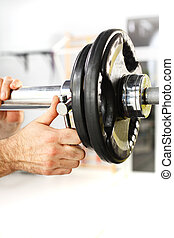 free weights - Equipment gym equipment dumbbell, barbell...