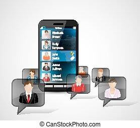 Cellphone concept - Cellphone communications concept