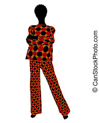 African American Lingerie Silhouette - African american...