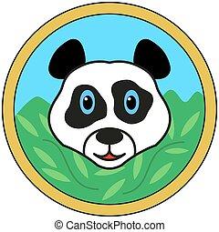 Panda bear head