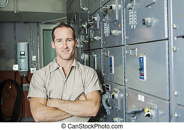 Control Room Engineer Power plant control panel - A Control...