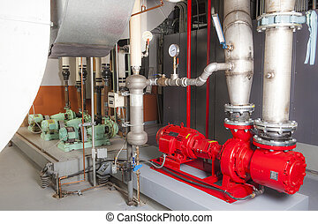 industrial boiler room - Am industrial boiler room in a...