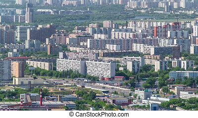 Panoramic view of the building from the roof of Moscow...