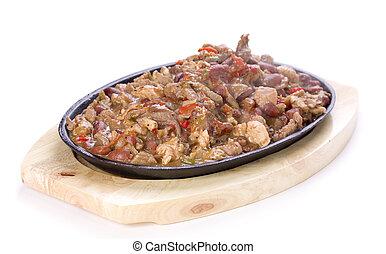 Fajitas - Mexican traditonal plate fajitas with beef,...