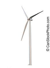 Wind turbine - Image of windmill turbine isolated on white...