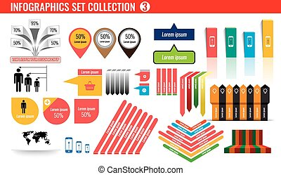 Celloction of infographics icons and symbol set number 3