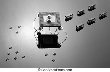 Army of chips and semiconductors - Army of different chips...
