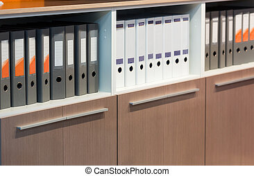 Folders with documents in the row