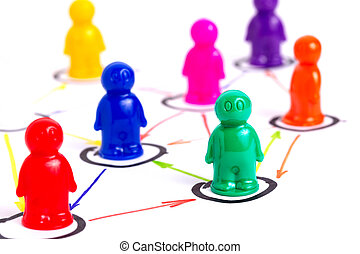 Networking concept - Networking, organizational groups or...