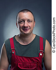 Manual worker - Portrait of smiling manual worker