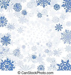 winter background with snowflakes  snow vector