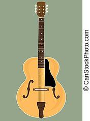 Jazz Guitar - Vector Illustration of a Archtop Jazz Guitar....