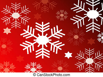 red background with snow flakes