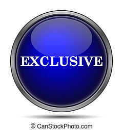 Exclusive icon. Internet button on white background.