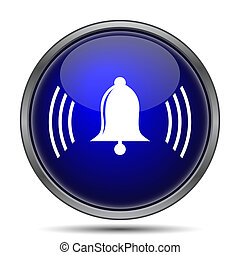 Bell icon Internet button on white background