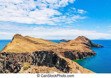 Madeira, bay at Ponta de Sao Lourenco - Madeira, Portugal -...