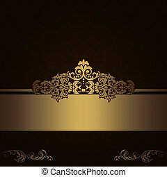 Dark vintage background with decorative border.