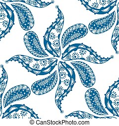 seamless blue pattern - Vector blue pattern. Isolated on...