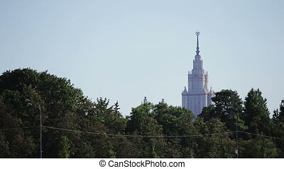 High Soviet building in Moscow. - The building of the Stalin...