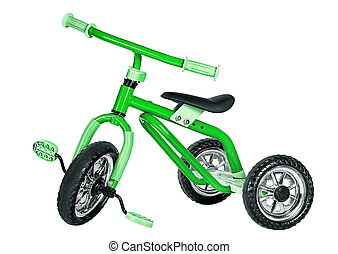 Kids green tricycle