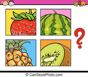 educational puzzle for preschoolers - Cartoon Illustration...