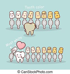tooth with whitening tool - cartoon tooth with whitening and...