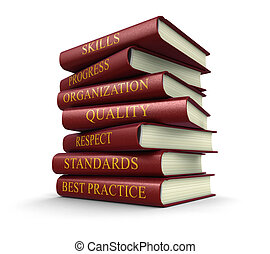 Stack of book on best practice