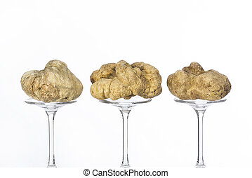 Still life of a truffles on a white background - Still life...