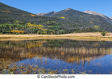 Mountain Reflection in Fall