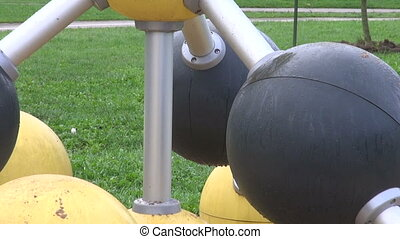 Children playground equipment area in the park