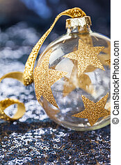 Christmas decorations on sequins - Festive christmas...