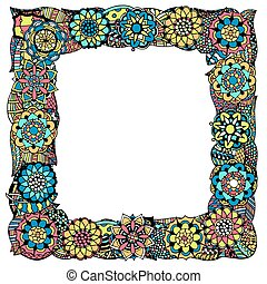 Abstract frame - Decorative nature frame of colored Abstract...