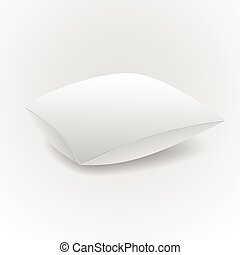 White pillow isolated on grey background