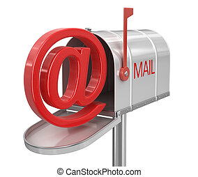 Open mailbox with E-mail sign