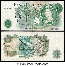 Old English bank note - High resolution copy of an old Bank...