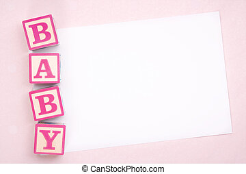 Blank baby announcement - Blank card for a new baby or baby...