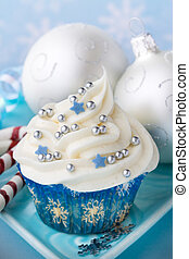 Christmas cupcake - Cupcake with a winter theme and...