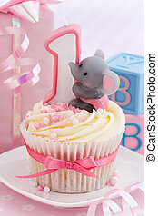 Babys first birthday - Mini birthday cake for a baby girls...