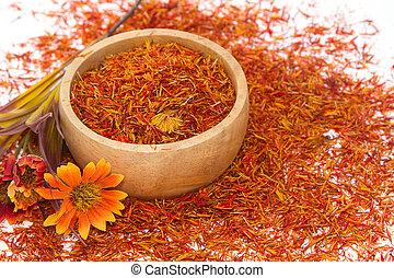 Safflower, False Saffron, Saffron Thistle Carthamus...