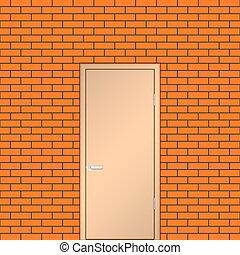 Door on a brick wall