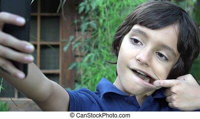 Boy Teen Taking Selfie