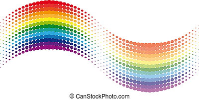 Halftone rainbow wave.